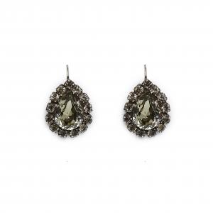Seenberg, Trachtenschmuck, Trachtenkette, Trachtenkropfkette, Ohrringe, Armband, grau, Kristall, black diamond, Perlen, Österreich