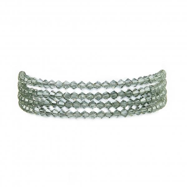 Seenberg, Trachtenschmuck, Trachtenkette, Trachtenkropfkette, Choker, Ohrringe, Armband, altsilber, grau, Perlen, Österreich